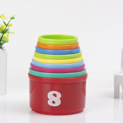 Jenga Baby Cognitive Stacking Cup Block Toys children colorful rainbow wooden dominoes toy stacking building block game baby educational tumbling stacked tower jenga kid