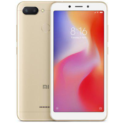 Gearbest Xiaomi Redmi 6 5.45 inch 4G Smartphone Global Edition - GOLD 4GB RAM 64GB ROM 12.0MP + 5.0MP Rear Camera Fingerprint Sensor
