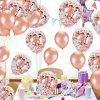 Stylish Aluminum Foil + Latex Balloon 10pcs - ROSE