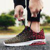 Men Trendy Breathable Anti-slip Woven Sports Shoes - RED WINE