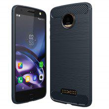 ASLING Carbon Fiber TPU Soft Phone Case Cover for Lenovo Moto Z ( XT1650 - 05 )