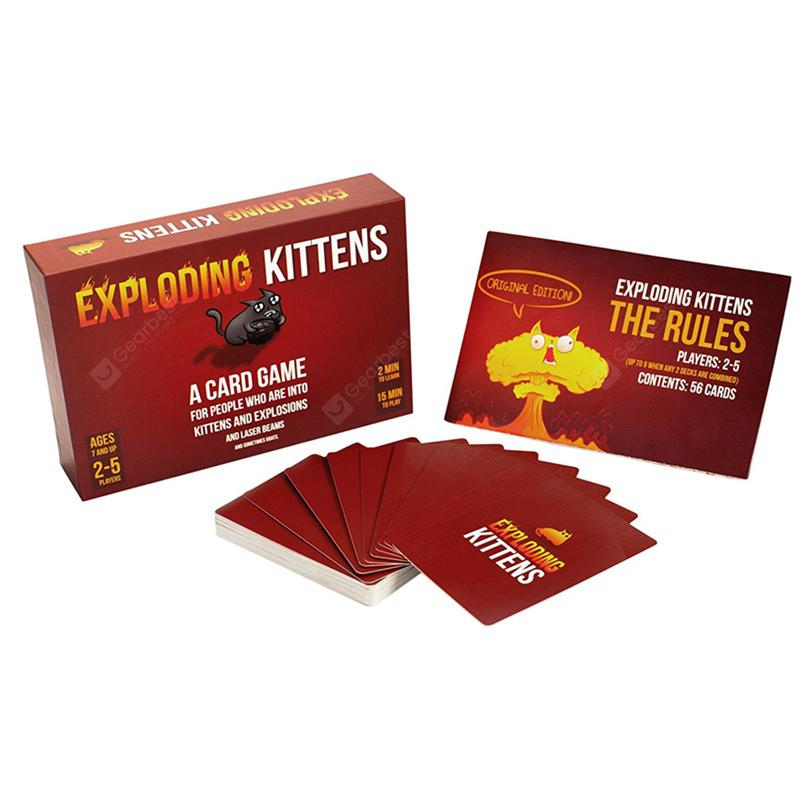 Exploding Cats Card Game - Red