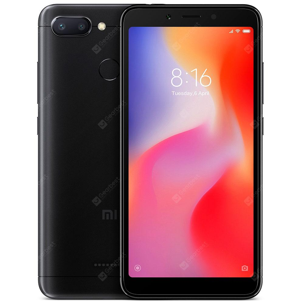 Xiaomi Redmi 6 5.45 inch 4G Smartphone Global Edition - BLACK  4+64GB  (entrepôt EU)