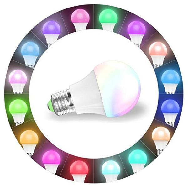 Intelligent Remote Control Color-changing Lamp Bulb - WHITE
