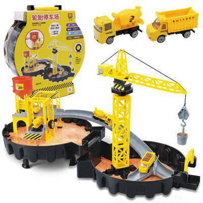 Kids Assembled Tires Construction Site Toy Model