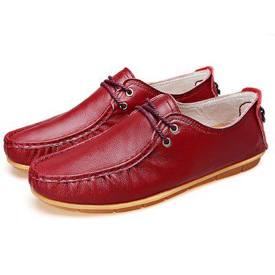 Men Anti-slip Breathable Solid Color Casual Leather Shoes