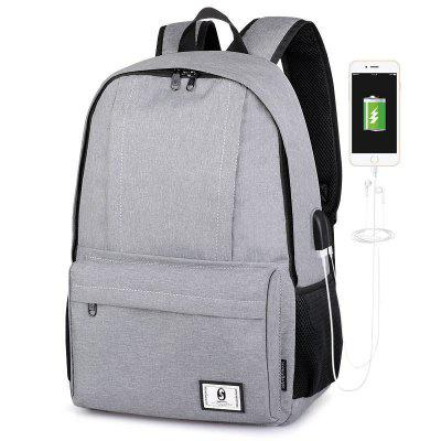 Trendy Travel Laptop Backpack with USB Port