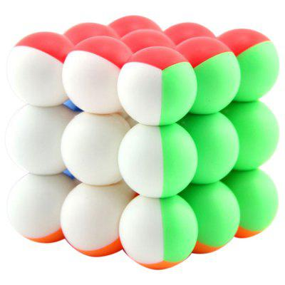 3 x 3 x 3 Round Bead Ball Magic Speed ​​Cube per bambini