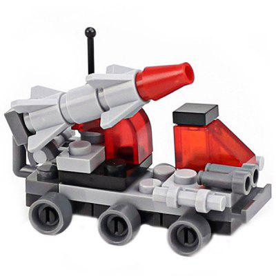 DIY Mini Sword Missile Vehicle Style Military Construction Toy Car Building Blocks for Kids Toddlers