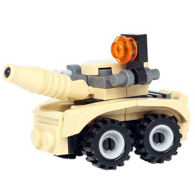 DIY Mini Laser Chariot Style Military Construction Toy Car Building Blocks for Kids Toddlers diy toys military army building blocks defensive wall action figures enlighten toy for children city