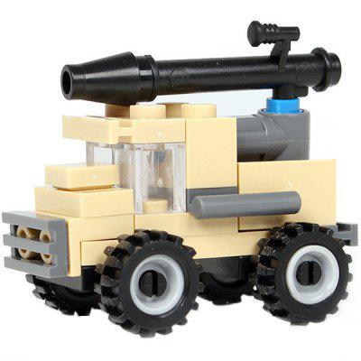 DIY Mini Anti-tank Vehicle Style Military Construction Toy Car Building Blocks for Kids Toddlers funlock duplo building blocks toys playground set 8pcs assemble bricks parts creative educational gift for kids children