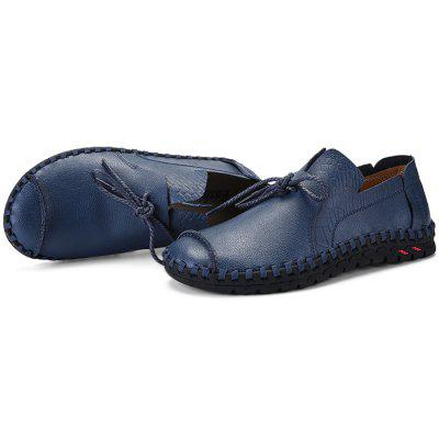 Men Anti-slip Breathable Outdoor Slip-on Casual Leather Shoes