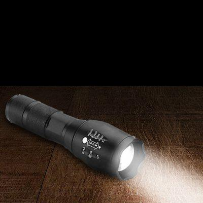 XMT - T6 Mini torcia a LED con zoom telescopico