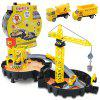 Kids Assembled Tires Construction Site Toy Model - YELLOW
