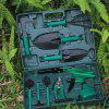 Gardening Tool Set for Flower Plant 10pcs with Storage Kit - GREENISH BLUE