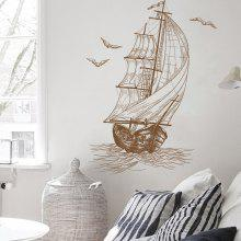 XL6224 Sailboat Removable Wall Sticker Set