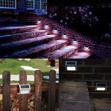 3 LED Solar Stair Light Stainless Steel Pathway Lamp Decor