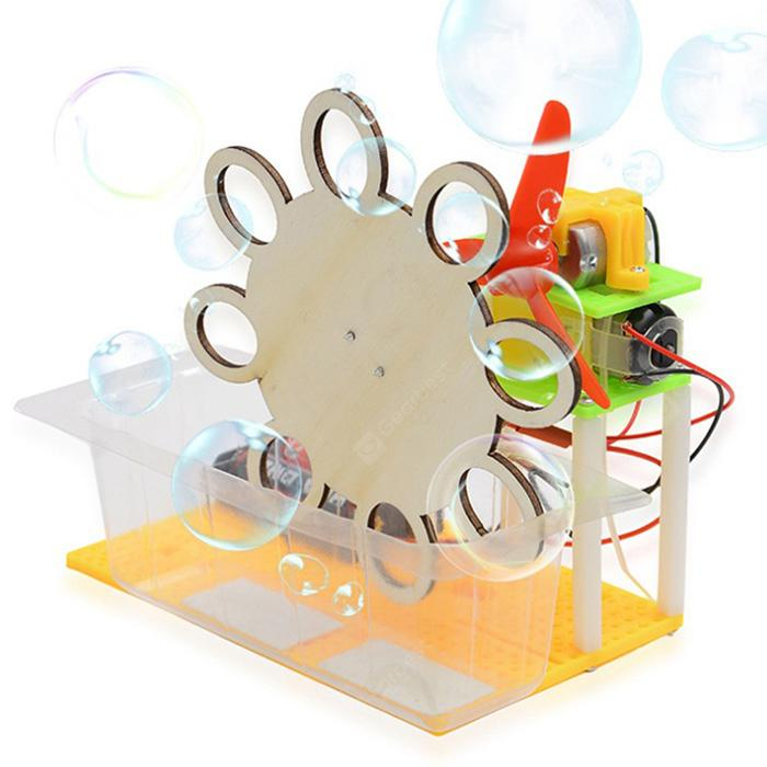 DIY Assembled Electric Bubble Toy LIGHT KHAKI