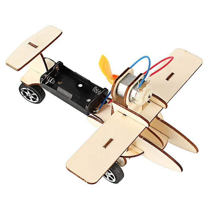 Kids DIY Educational Assembled Electric Glider Toy - TAN