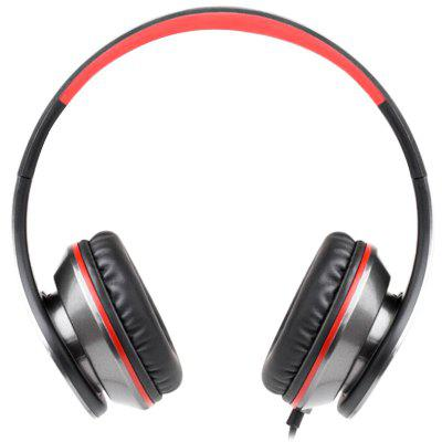 picun C16 Over-ear Wired Bass Headset with HD Microphone wired game headset deep bass gaming headphones with microphone over ear headband earphone with light for computer pc gamer