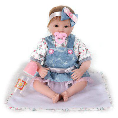 AK30262 Cartoon Girl Reborn Doll for Children shiny blue boots for 18 inch american girl doll our generation doll