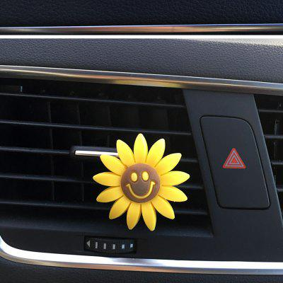 Vehicle Air Conditioning Vent Sun Flower Perfume Clip Solid Balsam Aromatherapy for Car Adornment And Fragrance Balsam