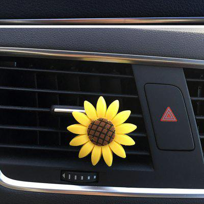 Vehicle Air Conditioning Vent Sun Flower Perfume Clip Solid Balsam Aromatherapy for Car Adornment AND Car fragrance Balsam