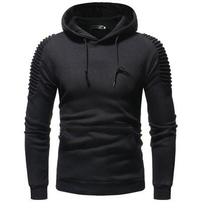 Muži Trendy Solid Colour Pullover Hoodies