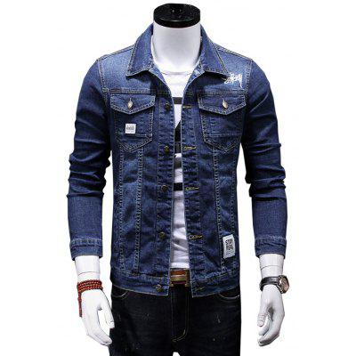 Men Casual Stylish Long Sleeves Jacket 2017 spring new classic lined dark lines lingge men s casual long sleeved shirt