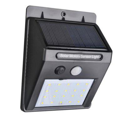 20 LED Outdoor Wireless Solar Light - BLACK в магазине GearBest