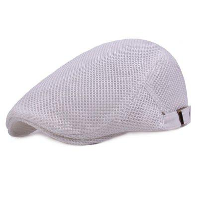 Summer Sunshade Newsboy Breathable Beret Cap mens herringbone flat hat peaked racing country golf newsboy beret cap