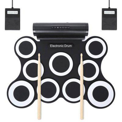 Portable Roll 9 Drum Plate Electronic Jazz Drum Set