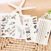 Creative Bronzing Tattoo Sticker 5PCS / Set - MULTI-A