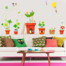 XL7132 Potted Plant Removable Wall Sticker Set