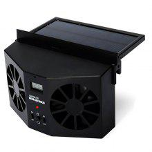 Solar Powered Car Air Vent Ventilator Two-headed Fan Cooler