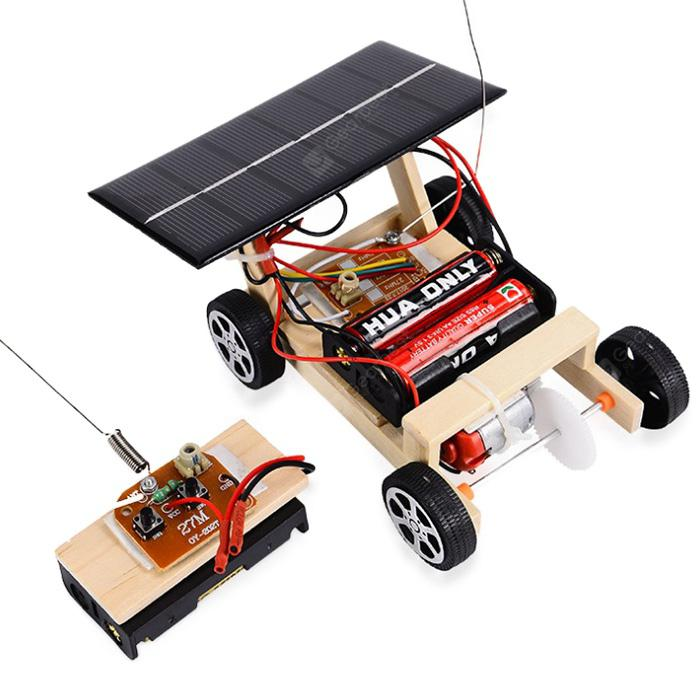 Educational DIY Assembled Solar Remote Control Car - APRICOT