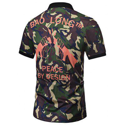 Print Short Casual Camouflage Shirt Comfortable Sleeve 6CyqwO