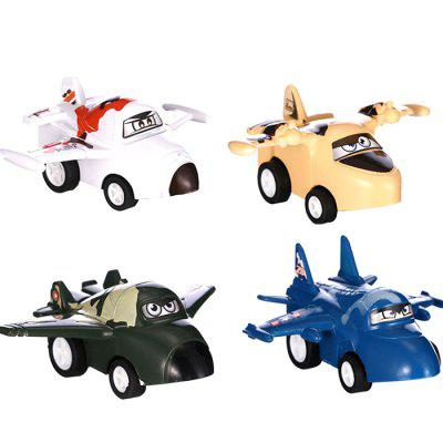 ABS Pull-back Airplane Block Toy 4pcs