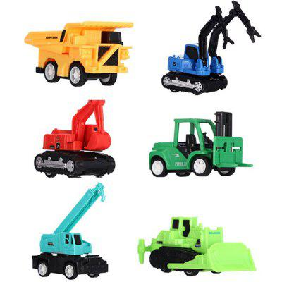 ABS Pull-back Construction Vehicle Block Toy 6pcs