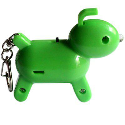 Anti-lost Cute Dog Look Whistle Sound LED Light Alarm Key Finder