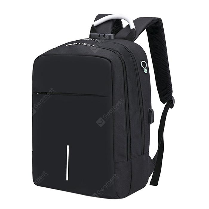 Large Capacity Burglar-proof Oxford Cloth Backpack with USB Charging Port