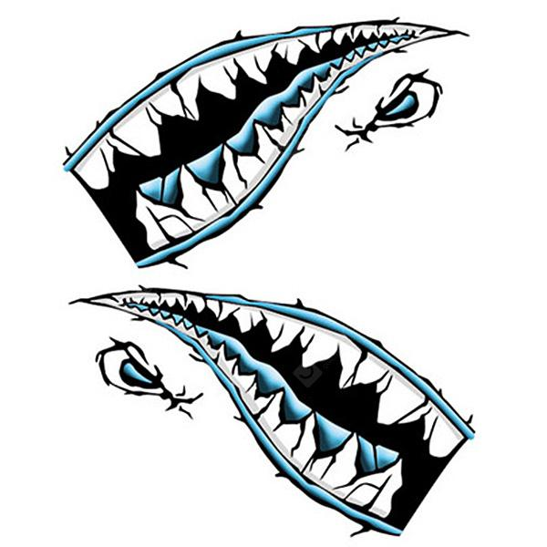 Shark Mouth Series Reflective Car Body Sticker