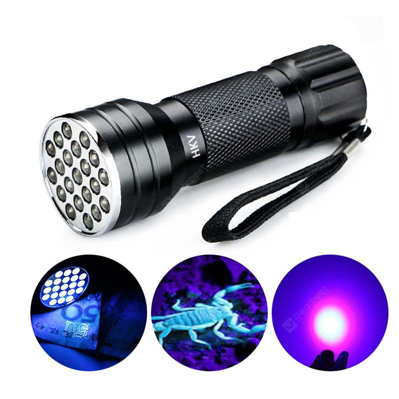 HKV 21-LED Portable UV LED Flashlight - Black