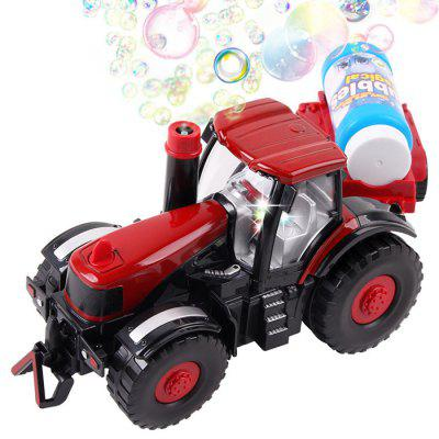 Kids Electric Blowing Bubble Farm Truck Toy