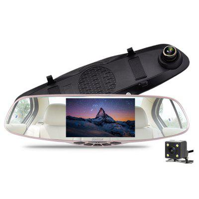 DENICER Touch Screen HD DVR Rearview Mirrors Driving Recorder