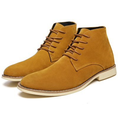Hommes Daim Chaussures Haute Couture