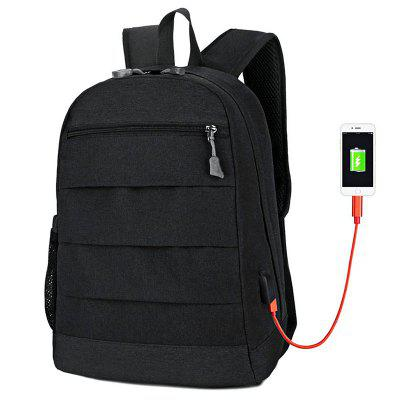 FLAMEHORSE Large-capacity Casual Computer Backpack with USB Charging Port