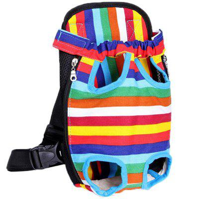 Outdoor Travel Canvas Pet Puppy Dog Cat Chest Carrier Band Backpack Front Shoulder