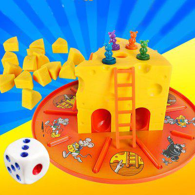 Parent-child Interactive Big Cheese Battle Cat and Mouse Game Toys for Kids Developing Intelligence