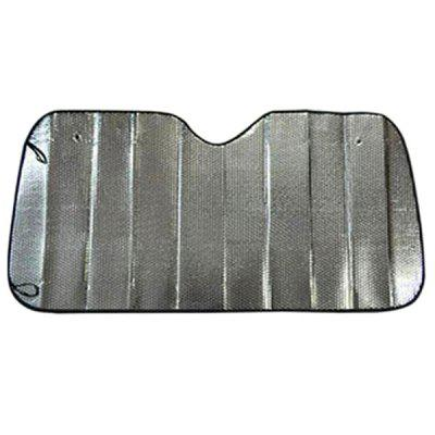 Shield 130 x 60 Double Sided Silver Car Front Shielding Plate for Sun Protection